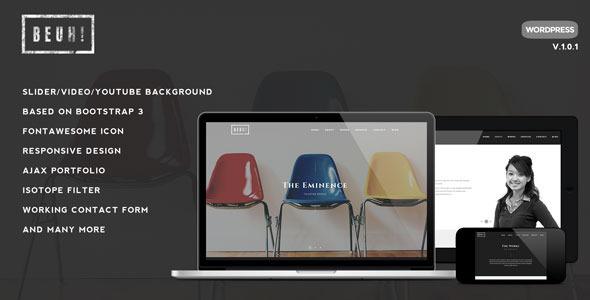 Beuh – Responsive One Page Portfolio Theme