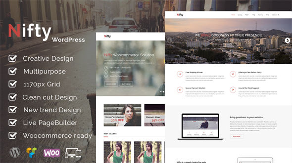 Nifty – Responsive Multi-Purpose WordPress Theme