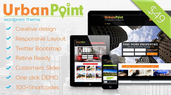 UrbanPoint Responsive Real Estate WordPress Theme