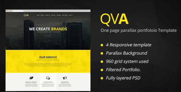 QVA – One Page Multi-purpose WordPress Theme