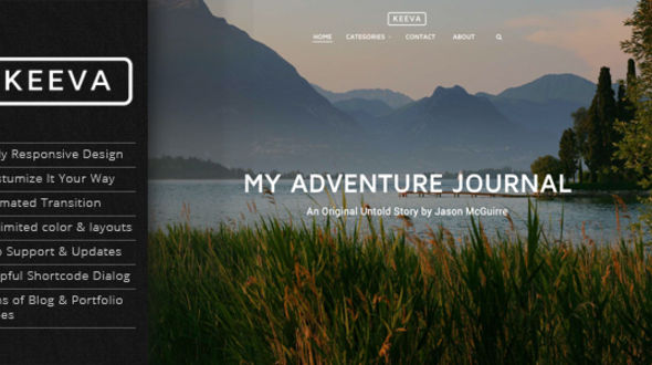 Keeva – Responsive Storytelling Personal Blog Themes