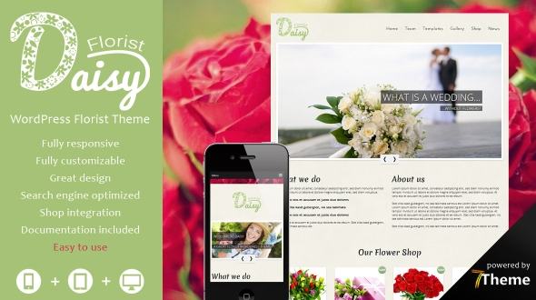 Daisy – Florist WordPress Theme