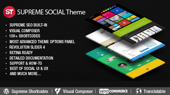 Supreme Social – Multi-Purpose Responsive WordPress Theme