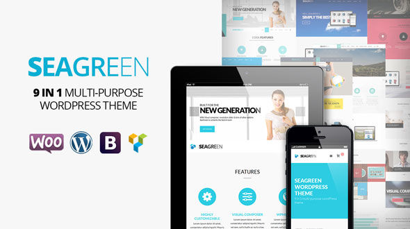 SeaGreen 9-in-1 Multi-Purpose WordPress Theme