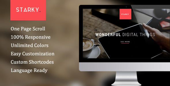 Starky – Responsive One Page Parallax Theme