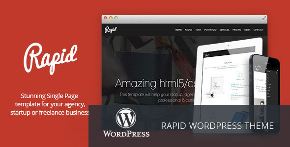 Rapid – One Page WordPress Theme