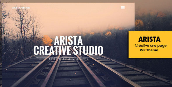 Arista – Creative One Page WP Theme