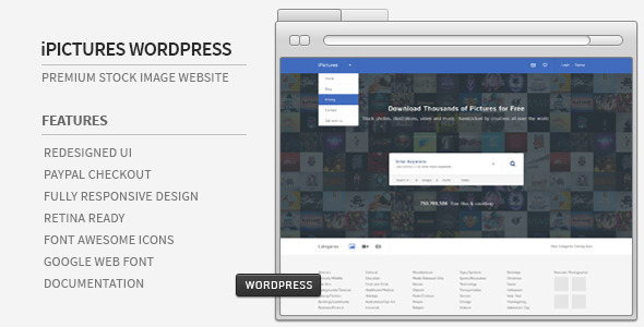 iPictures WordPress Responsive Stock Image Website