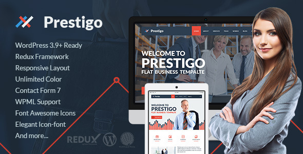 Prestigo – Flat Premium WordPress Theme