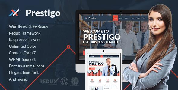 Prestigo – Flat Premium WordPress Theme