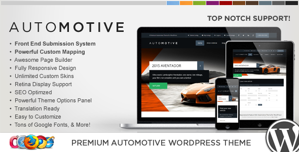 WP Pro Automotive 2 Responsive WordPress Theme