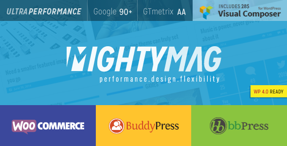 MightyMag – Magazine, Shop, Community WP Theme