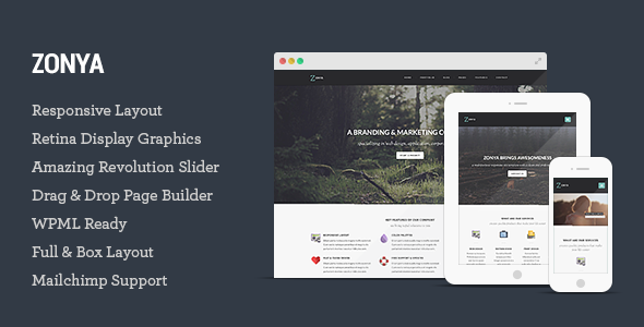 Zonya – Multipurpose Responsive WordPress Theme