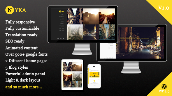 NYKA – Creative WordPress Theme for Portfolio