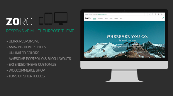 Zoro – Responsive Multi-Purpose WordPress Theme