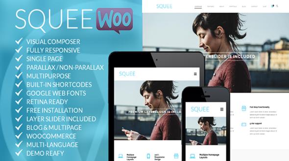 Squee – Responsive Multipurpose WordPress Theme