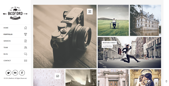 Bedford – Responsive Portfolio WordPress Theme