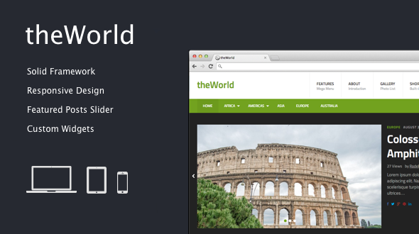 theWorld – Fresh Magazine Theme