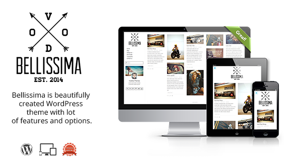 Bellissima – Simple Clean Responsive WordPress Blog
