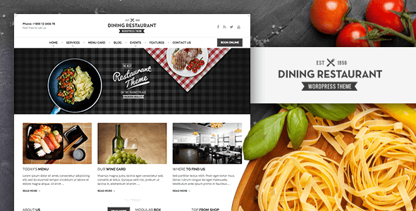 Dining Restaurant – WordPress Theme For Chefs