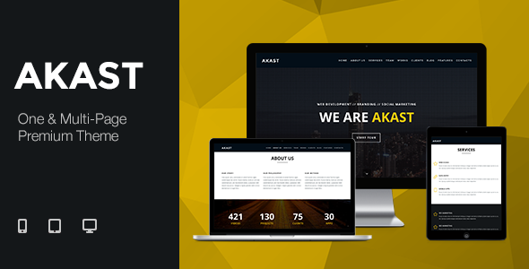 Akast – One & Multi-Page Premium Theme