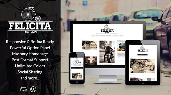 Felicita – Retina Responsive WordPress Blog Theme