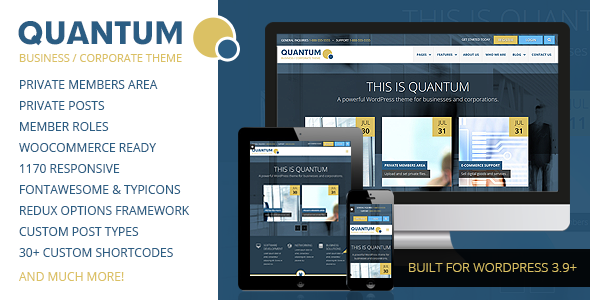 QUANTUM – Responsive Business WordPress Theme