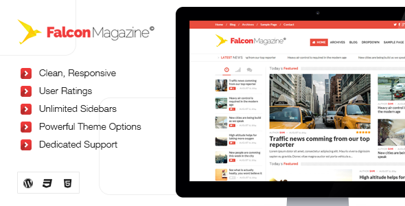 Falcon – Responsive WordPress Magazine Theme