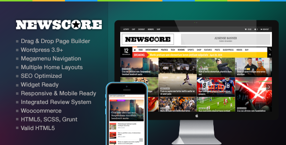 NewsCore – A Blog, Magazine and News Theme for WP
