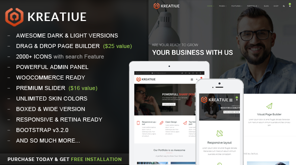 Kreatiue | Responsive Multipurpose WordPress Theme