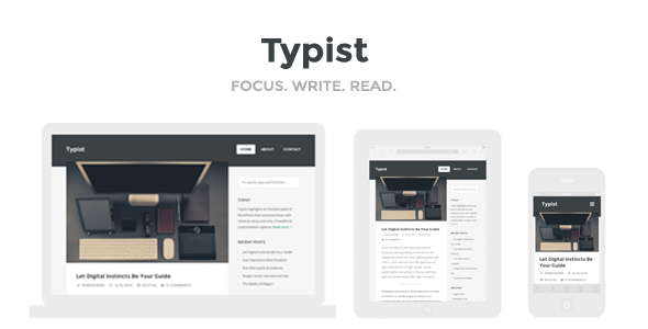 Typist – WordPress Theme for Serious Writers
