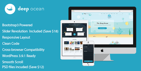 DeepOcean Responsive WordPress Theme