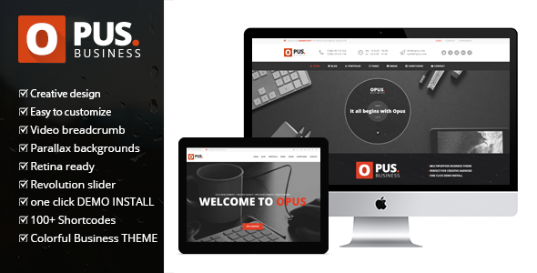 Opus – Multipurpose Business WordPress Theme