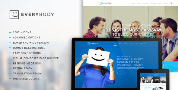 Everybody – Creative Multi-Purpose WordPress Theme