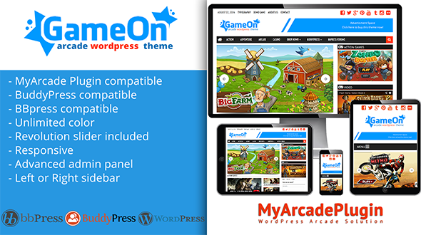 Gameon arcade wordpress theme