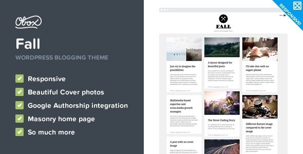 Fall – Premium WordPress Blogging Theme