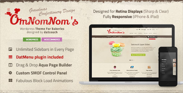 Omnomnom's – Premium theme for Bakeries