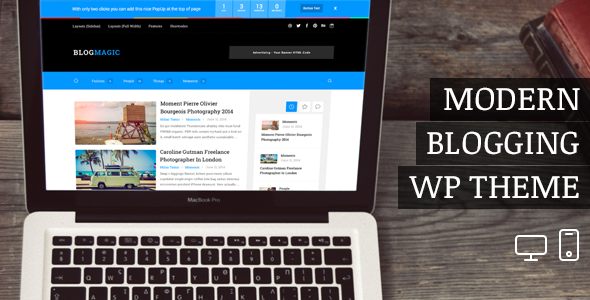 BlogMagic – Clean and Modern WordPress Blog Theme