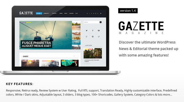 Gazette Magazine – WordPress Community Theme