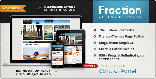 Fraction – Multipurpose News, Magazine Theme