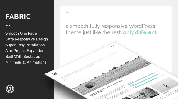 Fabric – Fully Responsive One Page WordPress Theme
