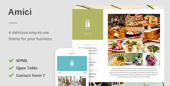 Amici – A Delicious Responsive Restaurant & Cafe Theme
