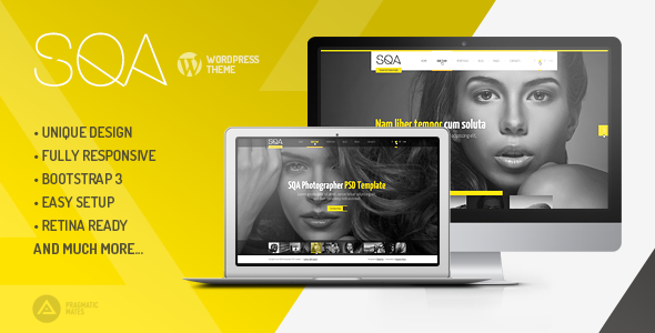 SQA – WordPress Portfolio & Photography Theme