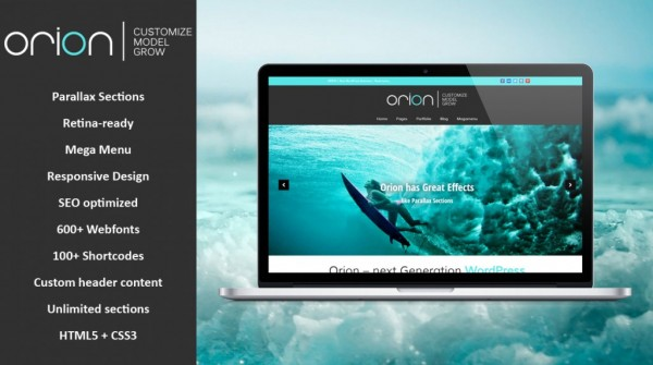 Orion – Multipurpose WordPress Theme