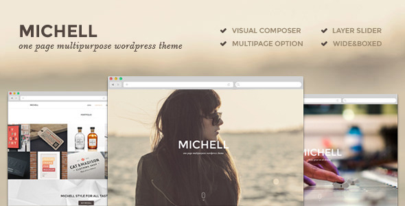 Michell – One Page Multipurpose Theme