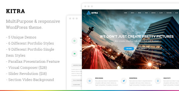 Kitra – MultiPurpose Responsive WordPress Theme