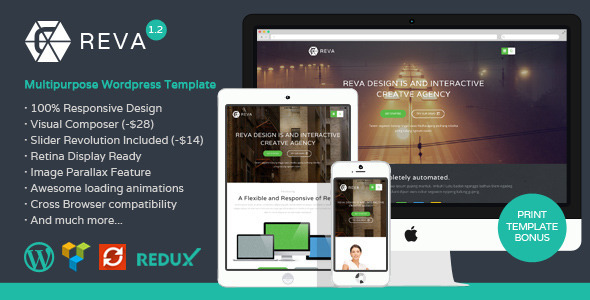 Reva – Responsive MultiPurpose WordPress Theme
