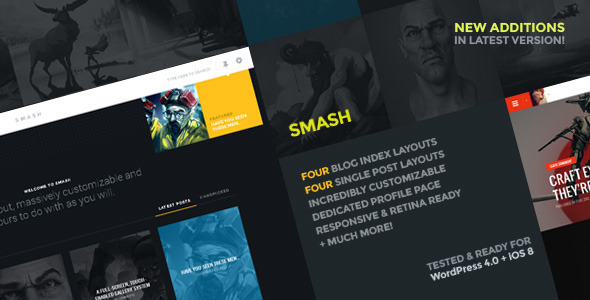 Smash: A multi-layout personal theme for WordPress
