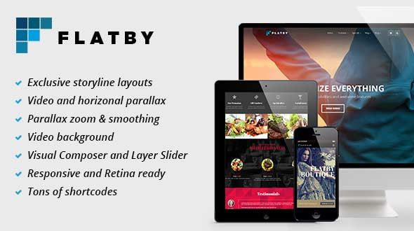 Flatby – Responsive Multipurpose Retina WordPress Theme