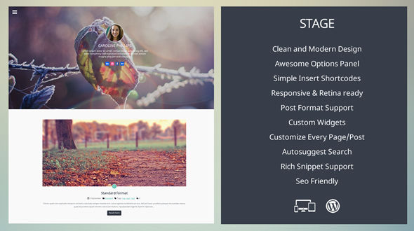 Stage – Personal Blog WordPress Theme